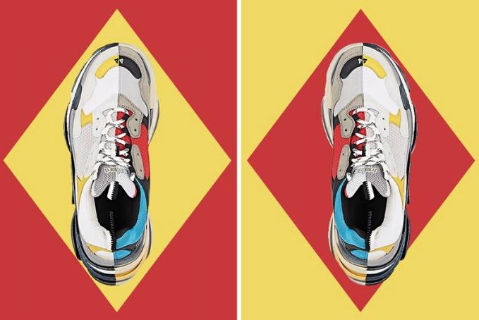 """Đôi giày """"xấu lạ"""" Balenciaga Triple S vừa ra mắt phối màu dành cho nam giới không thể kì dị hơn"""