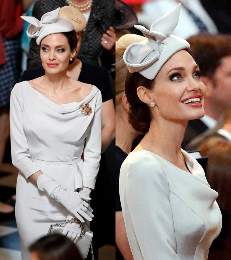 Nữ diễn viên 43 tuổi trông như một thành viên hoàng tộc thực thụ.