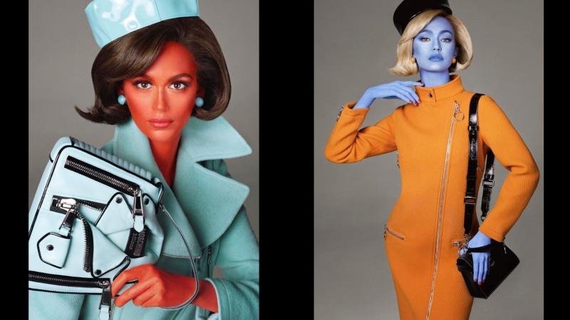 Kaia Gerber, Gigi Hadid hóa người ngoài hành tinh trong chiến dịch Thu Đông 2018 của Moschino
