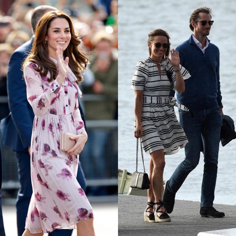 Hai chị em Kate Middleton (trái) và Pippa Middleton đều từng lựa chọn trang phục của kate spade new york.