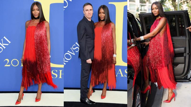 Nhanh như một cơn gió, Naomi Campbell đã trở về Mỹ nhận giải thưởng Biểu tượng Thời trang