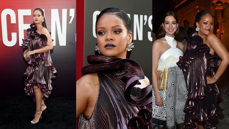 """Rihanna mũm mĩm, đáng yêu và sang chảnh tuyệt đối trên thảm đỏ ra mắt phim """"Ocean's 8"""""""