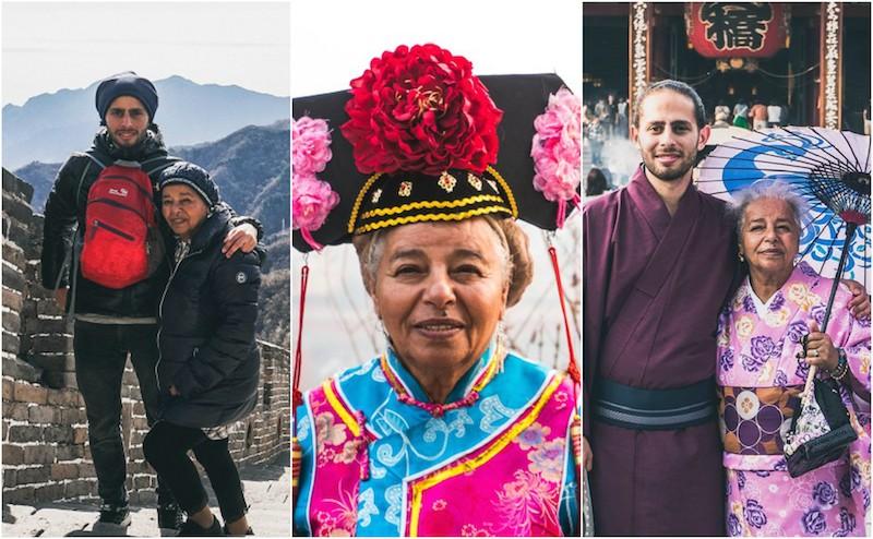 Chàng trai 26 tuổi nắm tay… bà ngoại đi khắp thế gian!