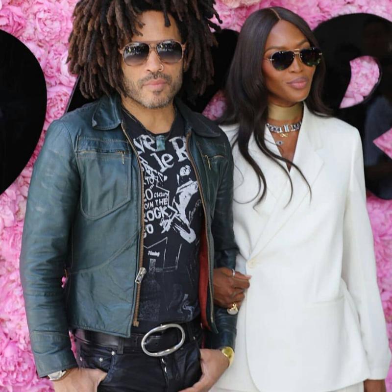Naomi Campbell dự show cùng nam ca sĩ Lenny Kravitz
