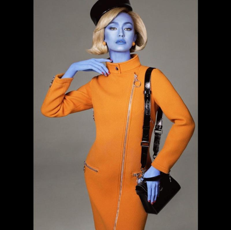 """Trông Gigi Hadid giống như một nhân vật bước ra từ phim """"Avatar"""""""