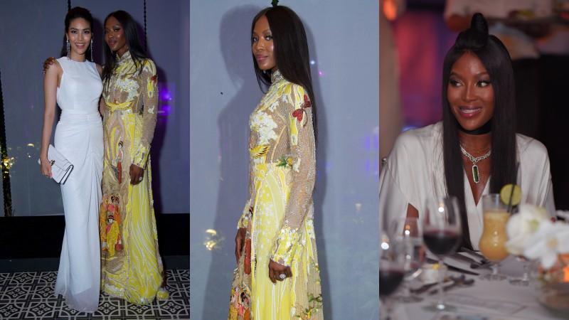 Siêu mẫu 48 tuổi Naomi Campbell đẹp không tì vết trong áo dài của NTK Nguyễn Công Trí và trang sức của CAO Fine Jewellery