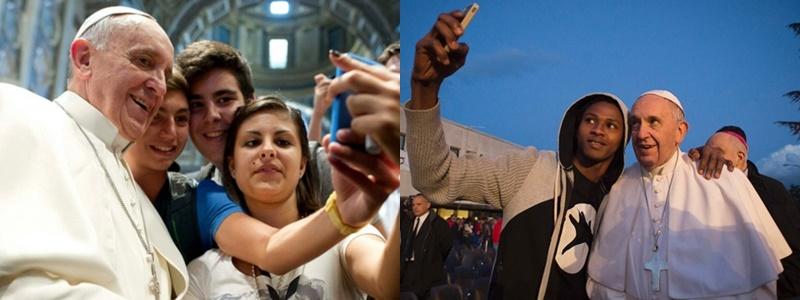 """Tấm ảnh """"Papal selfie"""" của Đức giáo hoàng Francis"""