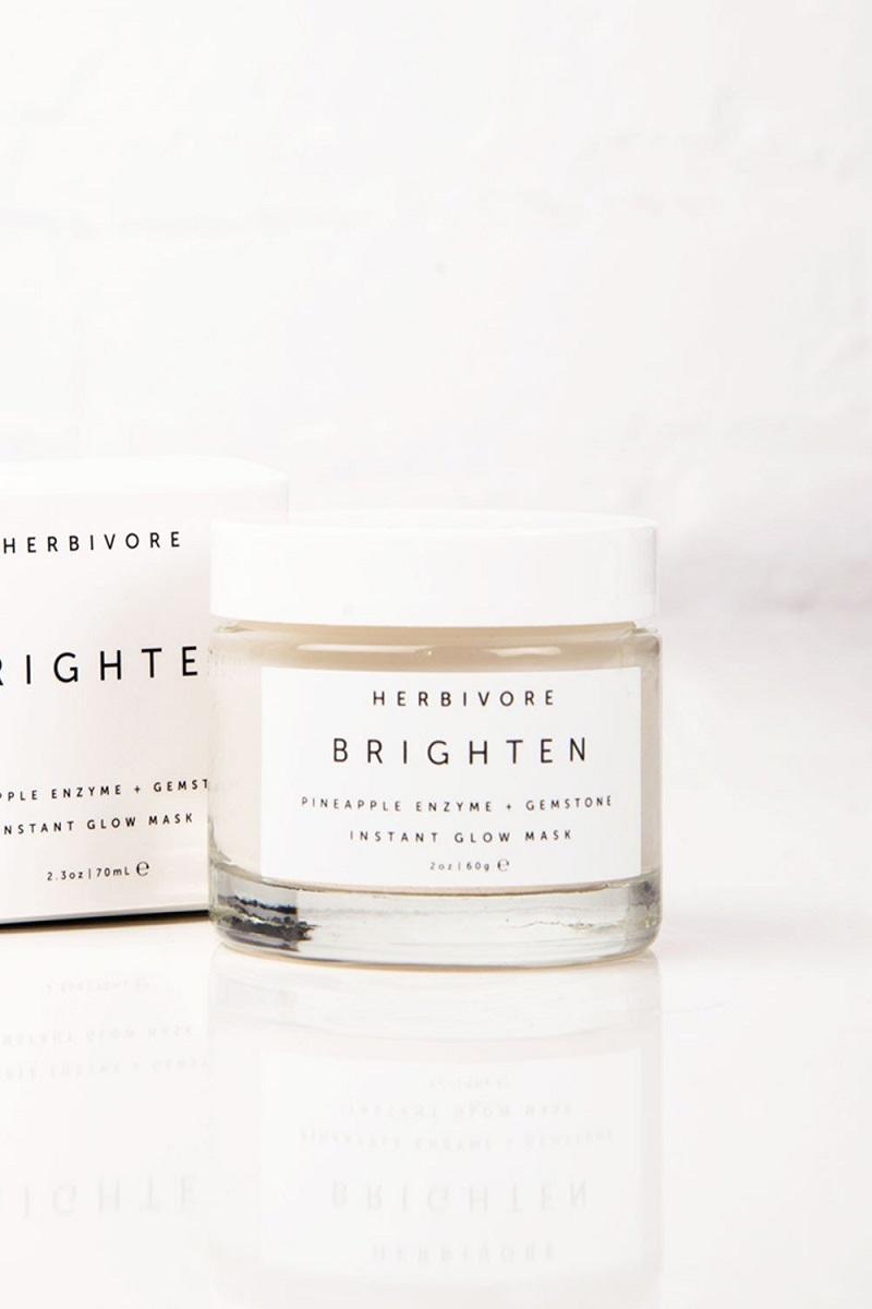 Herbivore Brighten Pineapple Enzyme + Gemstone Instant Glowmask ($48.00, khoảng 1.100.000VND)