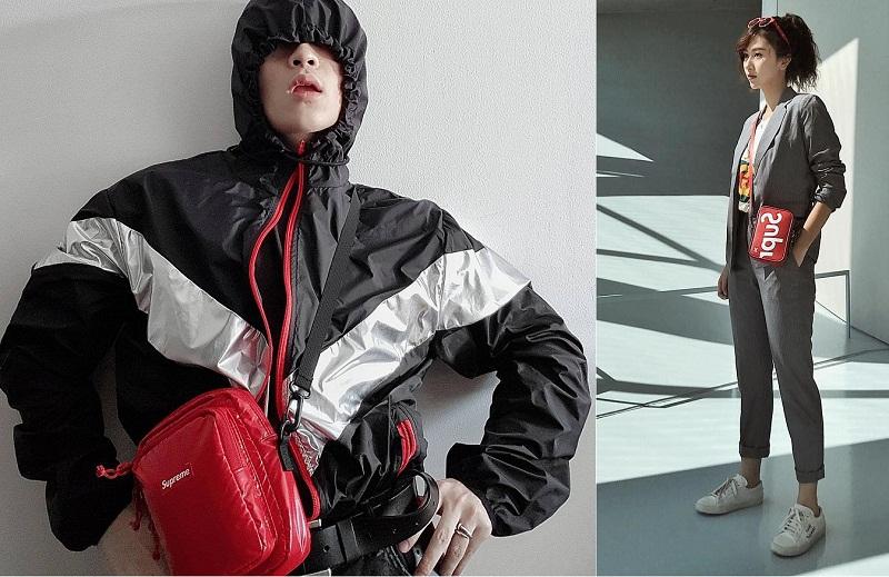 Các tín đồ của phong cách streetwear Việt lại đang mê mẩn chiếc túi đeo chéo form hình hộp chữ nhật của Supreme với nhiều ngăn tiện dụng.