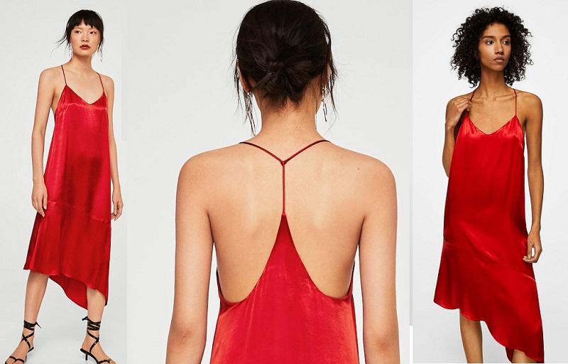 Satin có lẽ là chất liệu tuyệt vời nhất cho những chiếc đầm hở lưng. Mềm mại và quyến rũ, chiếc đầm backless màu đỏ tuyệt đẹp này sẽ hoàn hảo hơn khi bạn thêm chút son môi đỏ và phụ kiện vàng.