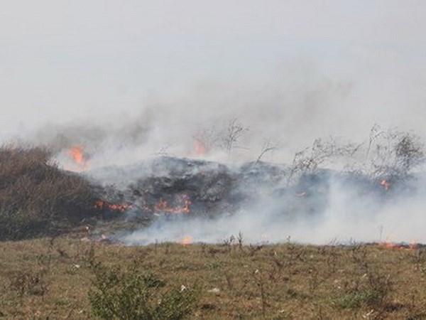 Nghệ An: Bãi rác rộng 11ha ở thành phố Vinh đang cháy dữ dội