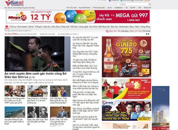 Báo điện tử VietNamNet bị xử phạt vì thông tin sai sự thật