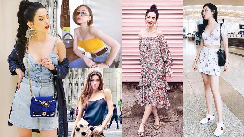 """Hồ Ngọc Hà, Angela Phương Trinh và loạt sao """"ướp lạnh"""" ngày hè với trang phục gợi cảm"""