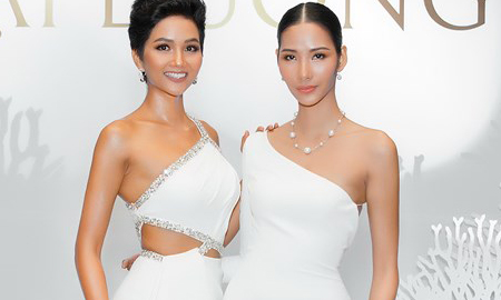 Hoa hậu H'hen Niê đọ đường cong nóng bỏng với Á hậu Hoàng Thùy