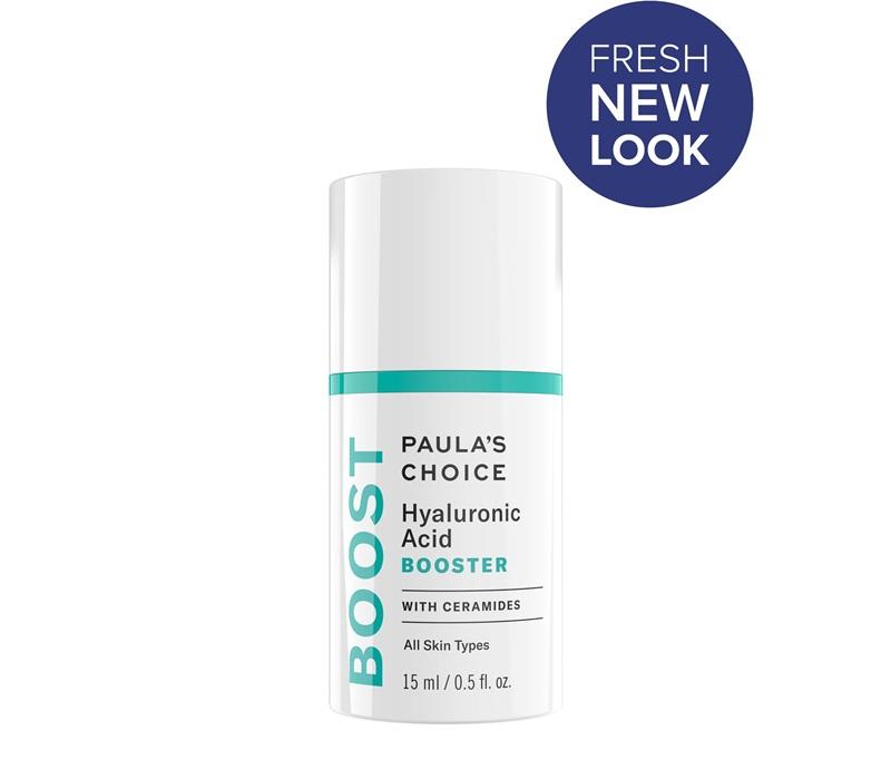 Paula's Choice Hyaluronic Acid Booster phiên bản mới: Serum tăng cường với công thức hyaluronic acid đậm đặc bổ sung lượng ẩm cần thiết cho những vùng da khô, thiếu nước, giúp da mịn, căng và cải thiện nếp nhăn li ti. Giá: 1.022.000VND