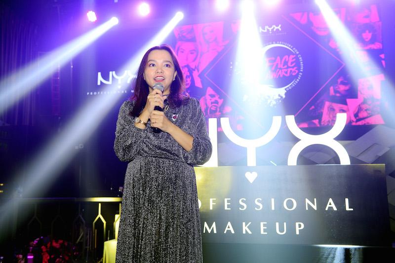 Đại diện của NYX Professional Makeup, chị Lê Huỳnh Phương Thục, chia sẻ về cuộc thi Face Awards 2018.