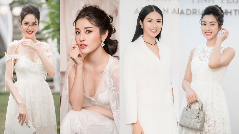 """Các Á hậu tỏa sáng, """"qua mặt"""" cả những Hoa hậu có mặt tại show NTK Adrian Anh Tuấn"""