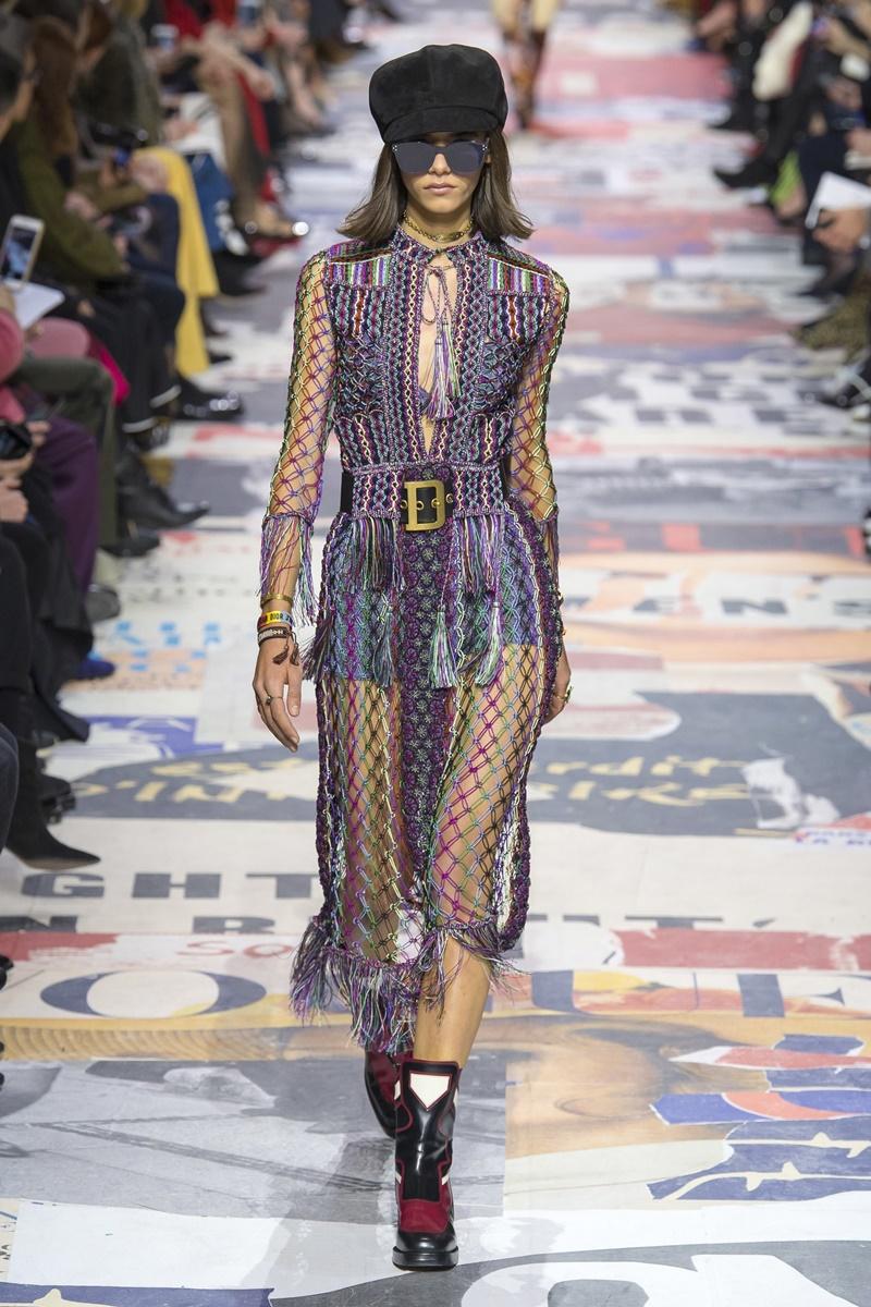 Bộ trang phục Cảnh Điềm mặc nằm trong BST Thu Đông 2018 của Dior.