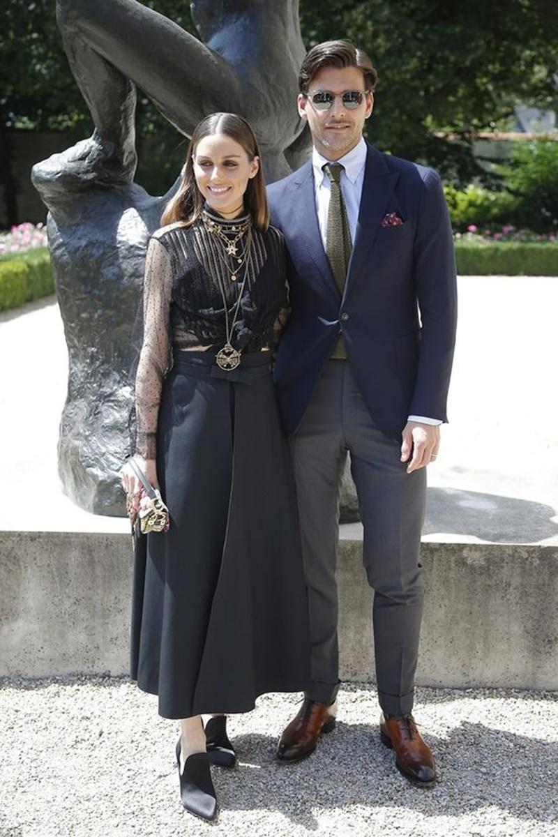 Hai vợ chồng Olivia Palermo và Johannes Huebl