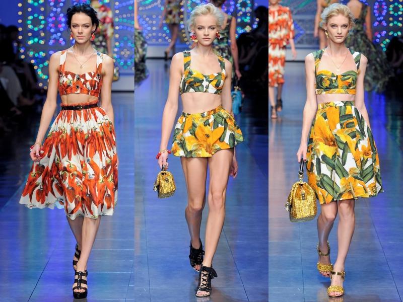 """BST Xuân Hè 2012 của Dolce & Gabbana với các thiết kế """"khoe"""" sườn."""