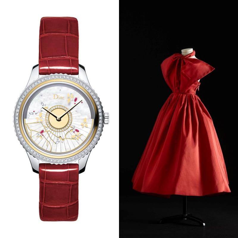 Thiết kế đồng hồ Grand Bal của Dior mang kỹ thuật chế tác đồng hồ đỉnh cao kết hợp cùng với sự tỉ mỉ của thời trang couture.