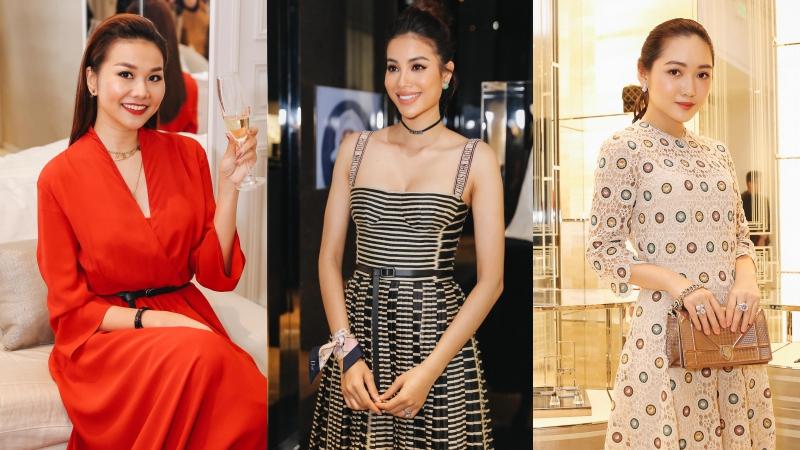 Thanh Hằng, Phạm Hương và Chloe Nguyễn khoe sắc tại sự kiện của Dior