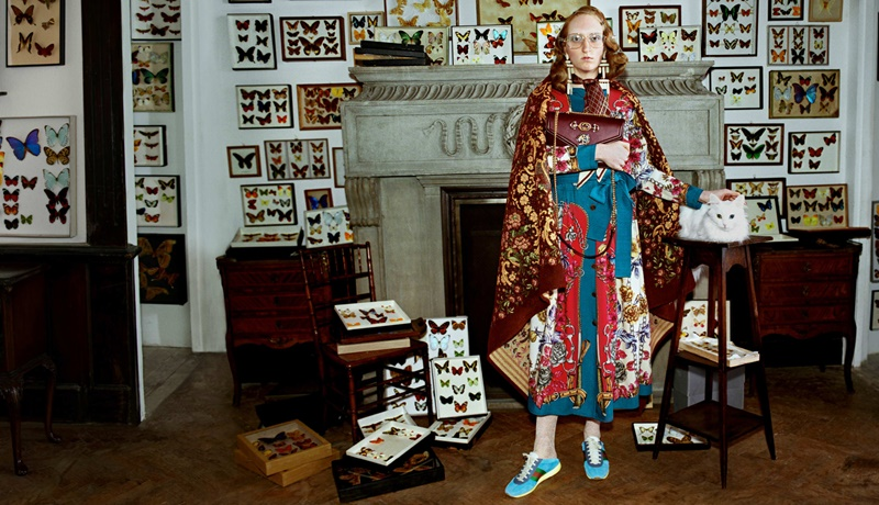 Cùng với những thiết kế mới trong BST Thu Đông 2018 của Gucci, bối cảnh của những khung hình trong chiến dịch lần này gây ấn tượng mạnh cho người xem.