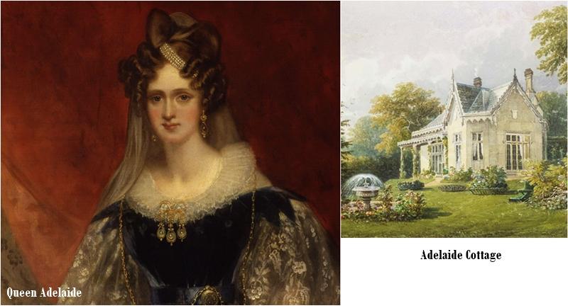 Chủ nhân đầu tiên của Adelaide Cottage là Hoàng hậu Adelaide, vợ của Vua William IV. Sau này, nơi đây trở thành nhà của nhiều chức sắc và triều thần Hoàng gia. Trong đó có Perter Townsend - người dạy cưỡi ngựa của điện Buckingham cũng là người từng làm rung động trái tim Công chúa Margaret (em gái Nữ hoàng Elizabeth II). Chủ nhân gần đây nhất là Simon Rhodes, con trai của anh họ Nữ hoàng.