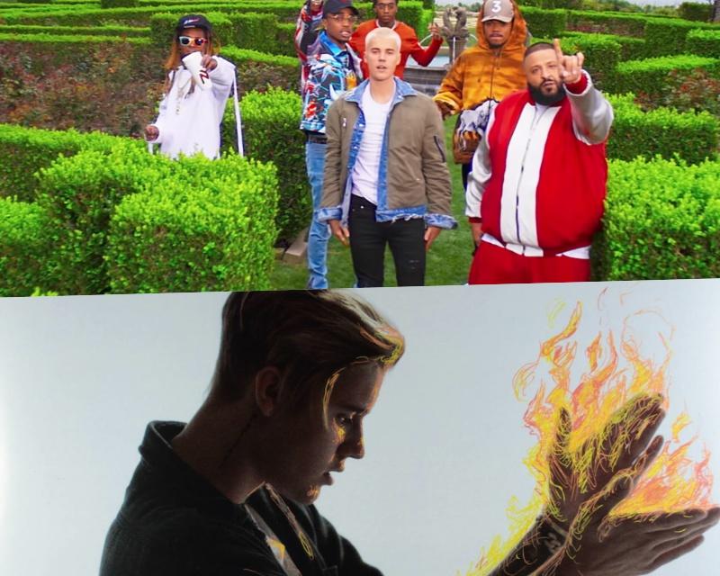 """""""Im The One"""" và """"Where R U Now"""" là 2 sản phẩm âm nhạc rất thành công của Bieber."""