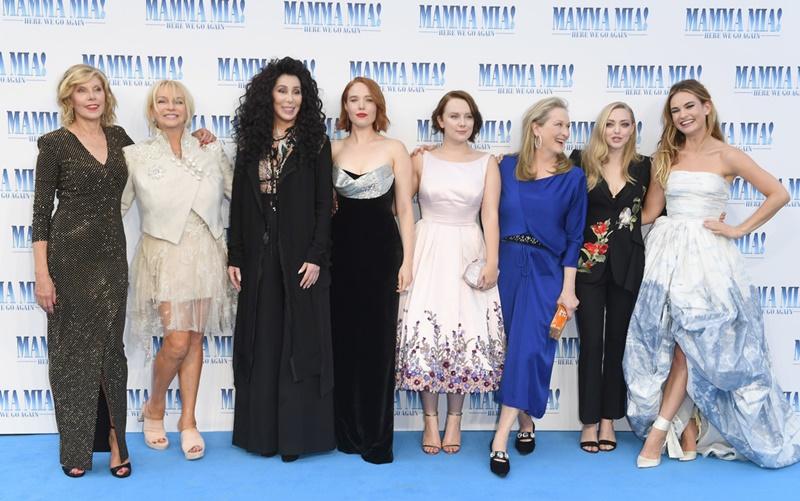 """Dàn nữ chính trong phim """"Mamma Mia! Here We Go Again"""""""
