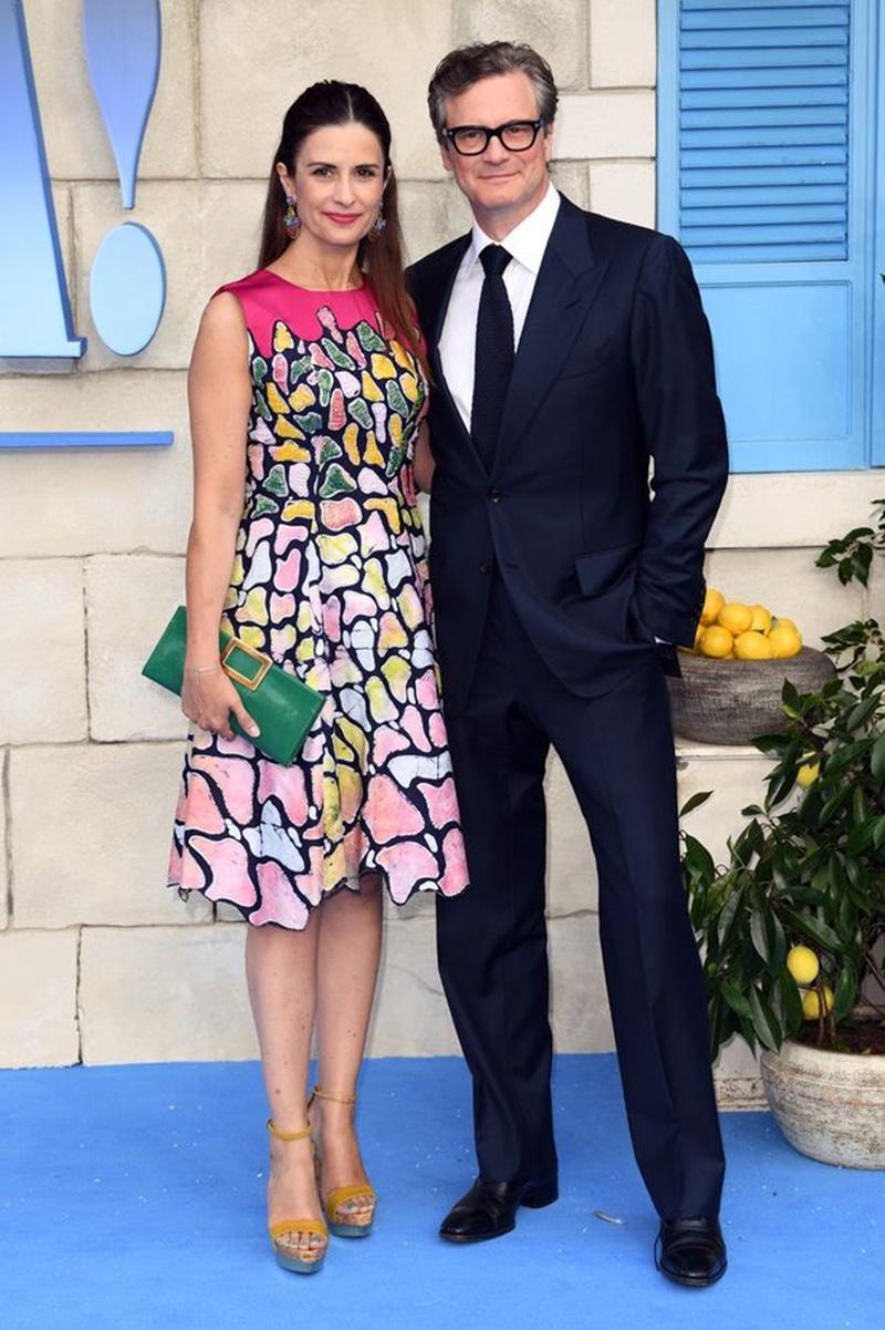 Nam diễn viên Colin Firth bảnh bao bên vợ.