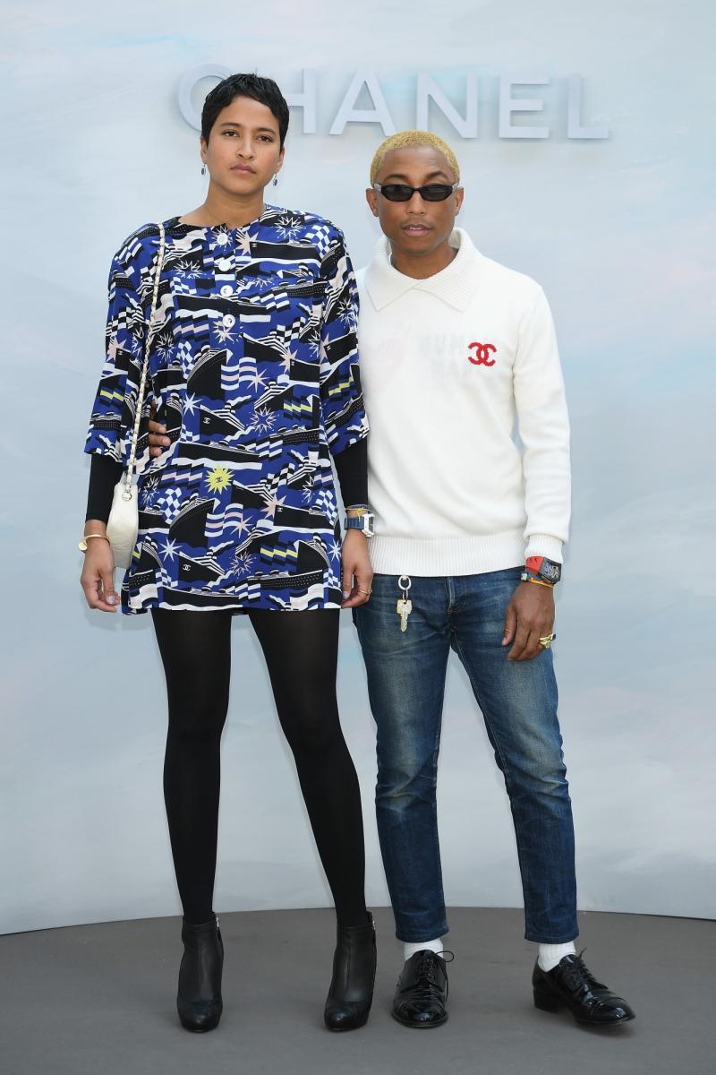 Nam ca sĩ Pharrell Williams và vợ Helen Hasichanh