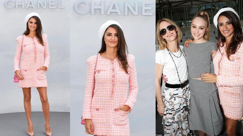 """Diễn viên 44 tuổi Penelope Cruz trẻ trung như """"gái đôi mươi"""" xuất hiện tại show couture của Chanel"""