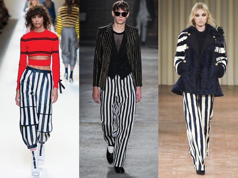 Quần kẻ sọc đen - trắng cũng đã trở thành một phong cách phi giới tính mà những tín đồ thời trang thời hiện đại vẫn luôn ưu ái lựa chọn.
