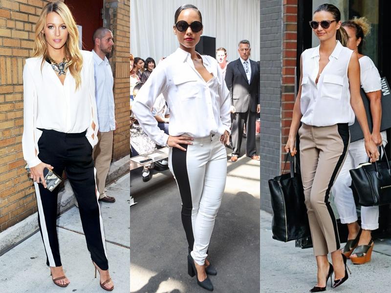 Mẫu quần này được rất nhiều sao nữ đình đám yêu thích như (từ trái qua) Blake Lively, Alicia Keys và Miranda Kerr