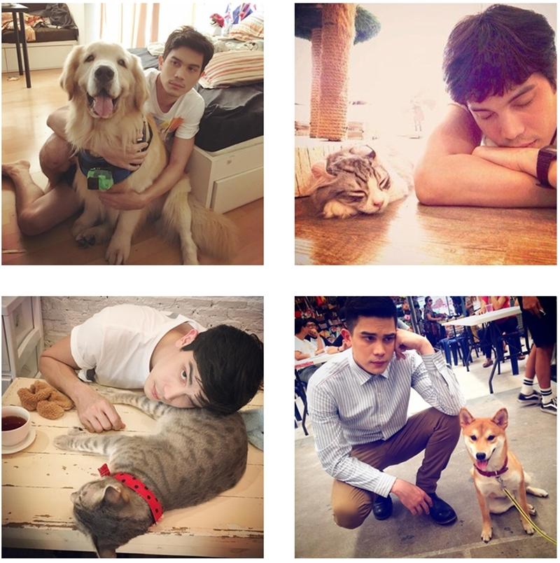 """Sunny rất chịu khó tự """"dìm mình"""" khi chụp hình cùng các thú cưng"""