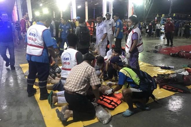 Thái Lan: Ít nhất 40 người thiệt mạng trong vụ chìm tàu ở Phuket