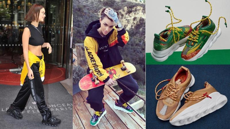 """Mới ra mắt không lâu, hàng loạt mỹ nhân đã sở hữu mẫu sneakers """"cool, ngầu"""" cho nam giới của Versace"""