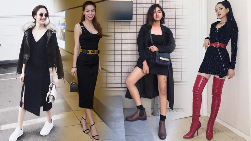 """8 kiểu giày sẽ là """"bộ đôi hoàn hảo"""" khi kết hợp cùng những chiếc váy đen"""