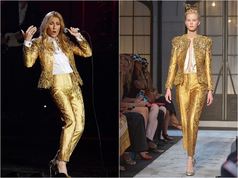 Và bộ suit ánh kim mà bà từng mặc khi dừng chân tại Tokyo cũng đến từ thương hiệu Schiaparelli và thiết kế này đã được trình diễn trong show thời trang Thu Đông 2015.