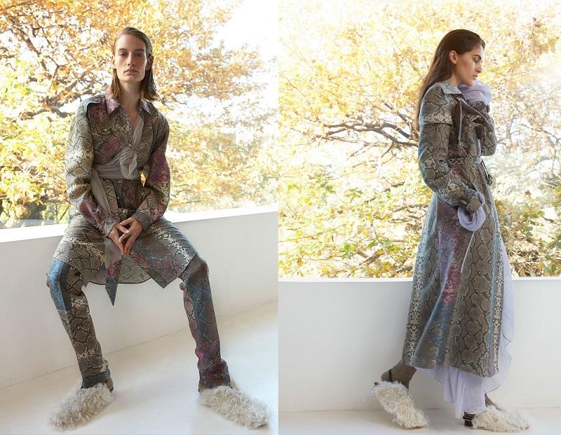 Bên cạnh sắc hoa và lớp voan bồng bềnh lãng mạn thì họa tiết da trăn cũng là một trong những điều đặc biệt mà Preen by Thornton Bregazzi mang đến sàn diễn thời trang mùa mốt này.