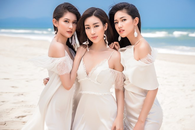 Top 3 Hoa hậu Việt Nam hóa những thiên thần thướt tha
