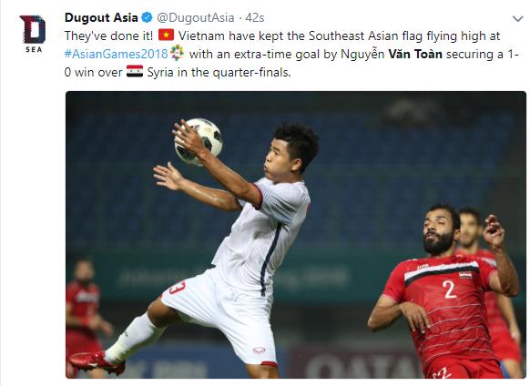 """Thắng Olympic Syria, Olympic Việt Nam là """"niềm tự hào Đông Nam Á"""""""