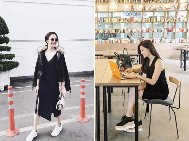 Angela Phương Trinh (trái) và Á hậu Huyền My cũng vô cùng yêu thích phong cách này.