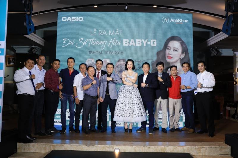 Angela Phương Trinh và các khách mời trong buổi công bố trở thành đại sứ đồng hồ Baby-G.