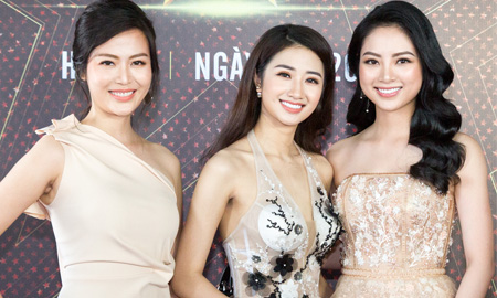 """Dàn Hoa hậu đất Bắc đọ dáng kiêu sa trên thảm đỏ """"Ngôi Sao Danh Vọng"""""""