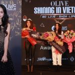 """Hòa Minzy diện đầm quyến rũ trong đêm chung kết """"Ngôi Sao Tài Năng – Super Oliver"""" (2018)"""