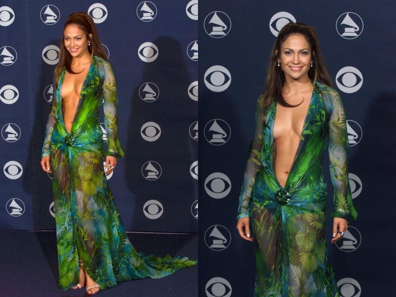 Thiết kế đầm Versace mà Jennifer Lopez mặc khi tham dự lễ trao giải Grammy 2000 đã tạo nên một hình ảnh tuyệt đẹp khó quên.