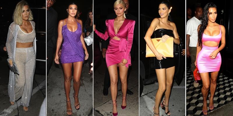 """Các chị em trong gia đình Kardashian đã """"lên đồ"""" sẵn sàng ăn mừng sinh nhật lần thứ 21 của Kylie Jenner."""