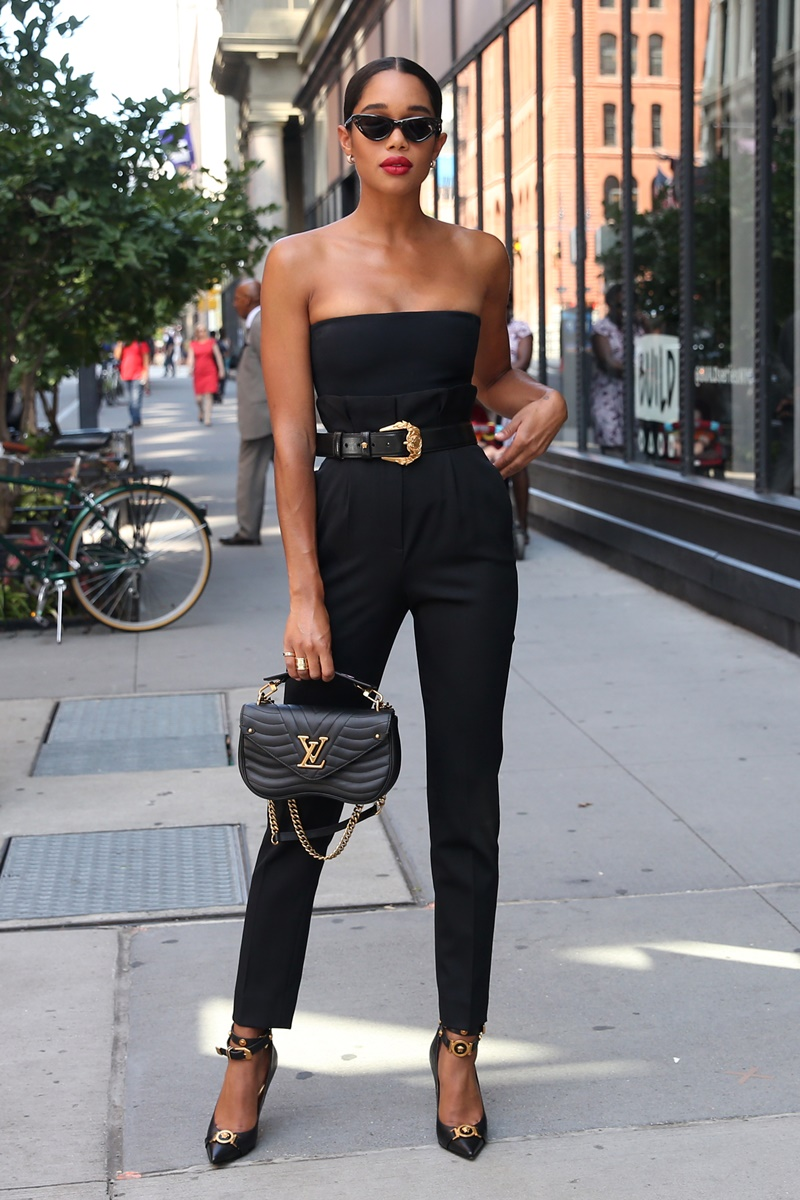 Actress Laura Harrier, carrying a Louis Vuitton bag, arrives at Build Series in New York City, New York on July 31, 2018. Pictured: Laura Harrier Ref: SPL5013420 310718 NON-EXCLUSIVE Picture by: Christopher Peterson / SplashNews.com Splash News and Pictures Los Angeles: 310-821-2666 New York: 212-619-2666 London: 0207 644 7656 Milan: +39 02 4399 8577 Sydney: +61 02 9240 7700 photodesk@splashnews.com World Rights